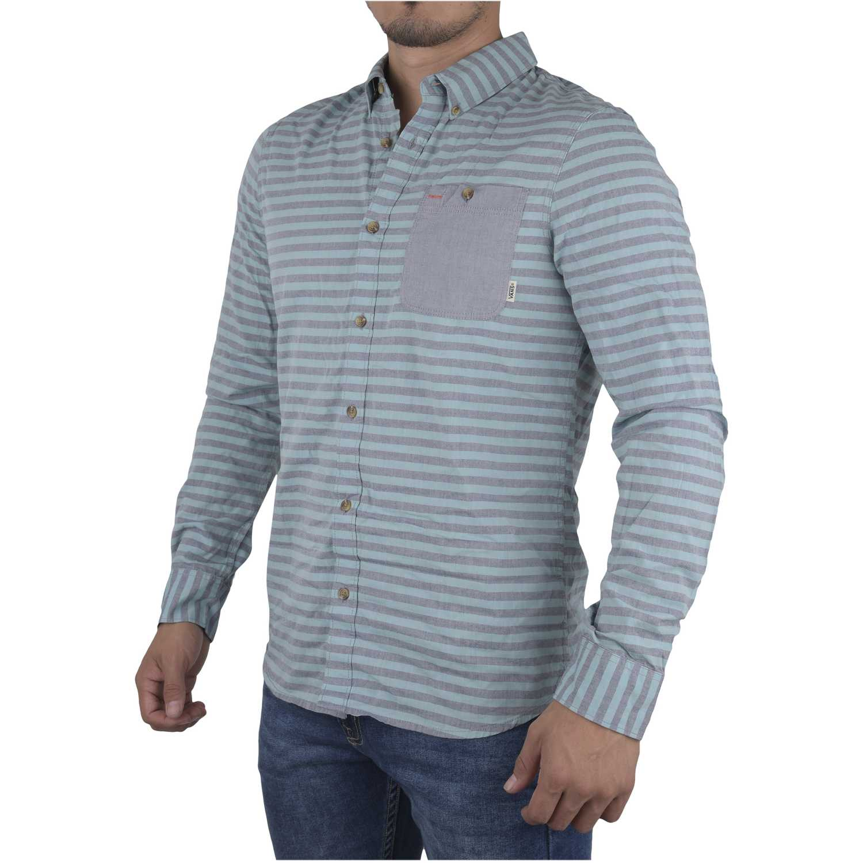 Camisa de Hombre Vans Celeste rusden stripe ls