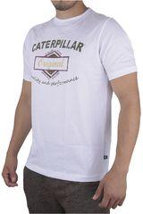 CAT Blanco de Hombre modelo T-SHIRT BASICO 8 Polos Casual