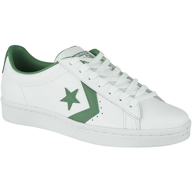 2efcbc7c6 Zapatilla de Hombre Converse Blanco   verde pro leather color pop ...