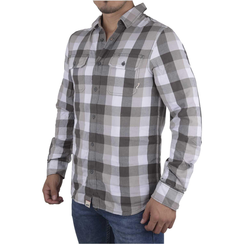Camisa de Hombre Vans Gris / blanco alameda