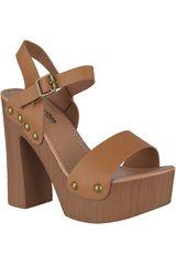 Sandalia Plataforma de Mujer Platanitos Camel SP-1032
