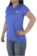 The North Face Azul de Mujer modelo W S/S REAXION AMP TEE Polos Casual