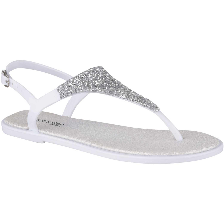 Flat de Mujer Platanitos Blanco sf 6595