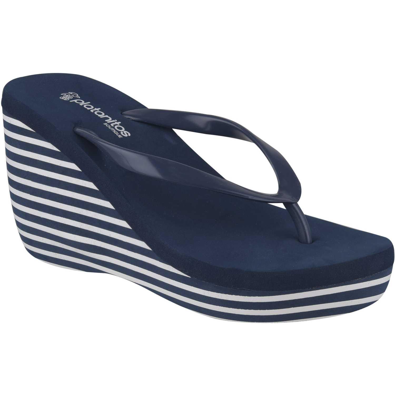 Sandalias Playeras de Mujer Platanitos Azul sb-4906  a160173440b8