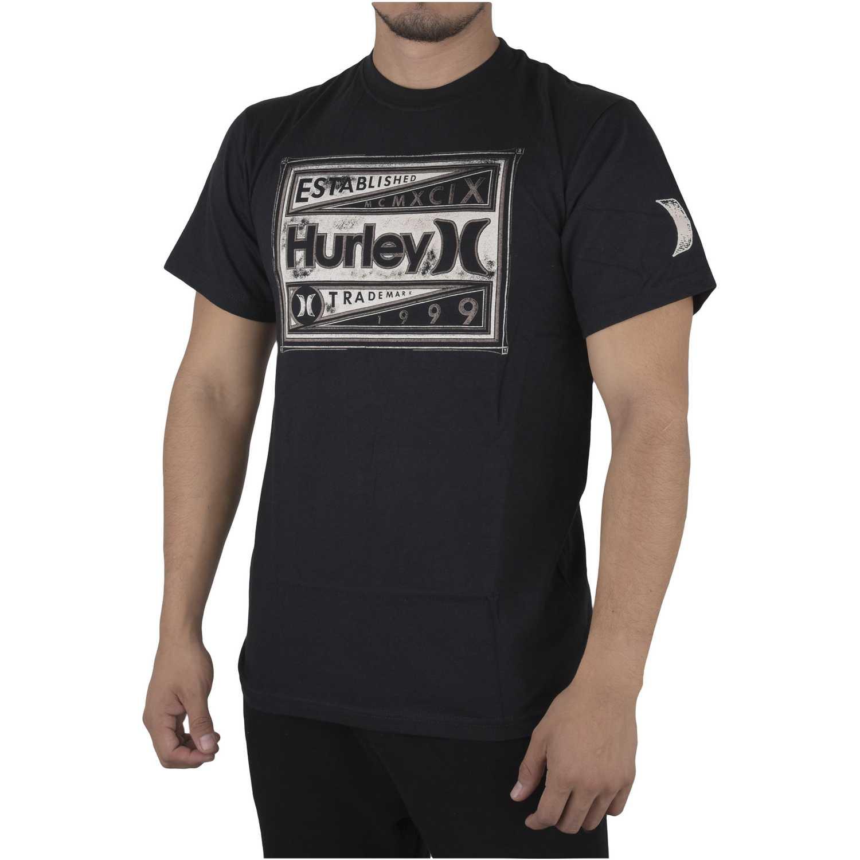 Polo de Hombre Hurley Negro man up shirt