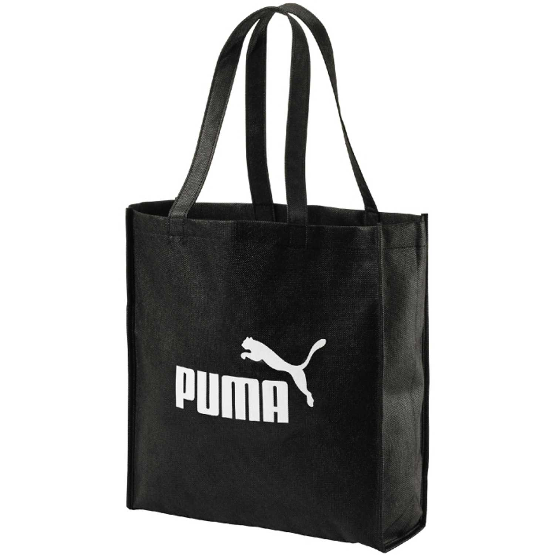 Bolso de Mujer Puma Negro / blanco core shopper