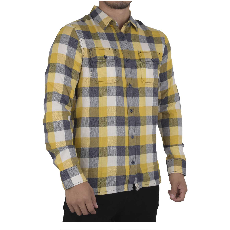 Camisa de Hombre Vans Amarillo / gris alameda ii