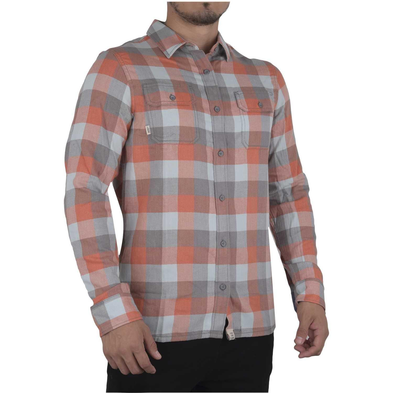 Camisa de Hombre Vans Naranja / gris alameda ii