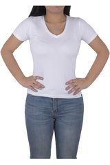 Strata Blanco de Mujer modelo CUELLO V Polos Casual