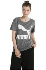 Polo de Mujer Puma Gris / Blanco ARCHIVE LOGO TEE