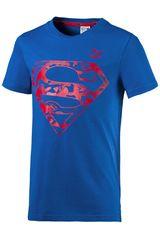 Puma Azul / Rojo de Jovencito modelo JUSTICE LEAGUE TEE (SUPERMAN) Polos Deportivo