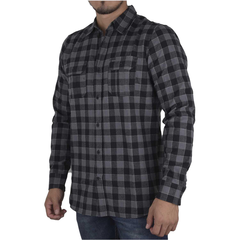 Camisa de Hombre Hurley Negro / verde westley woven long sleeve