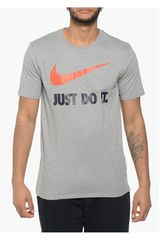 Nike Gris / Naranja de Hombre modelo NEW JDI SWOOSH Polos Deportivo