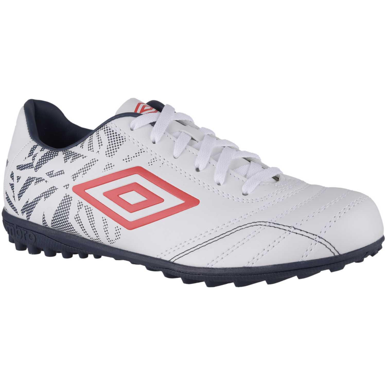 Zapatilla de Hombre Umbro Blanco / Rojo fusion 2 tf