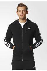 adidas Negro / Blanco de Hombre modelo ESS 3S FZ FT Casacas Deportivo