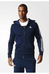 adidas Azul / Blanco de Hombre modelo ESS 3S FZ FT Casacas Deportivo