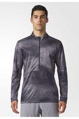 Adidas Gris / negro de Hombre modelo WORKOUT LS GFX Poleras Deportivo