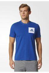 adidas Azul de Hombre modelo ESS CHESTLOGO T Casual Polos