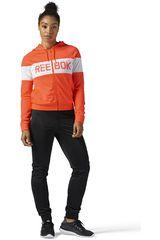 Reebok Negro / Naranja de Mujer modelo EL TS TRICOT Deportivo Buzos