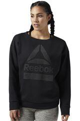 Reebok Negro /gris de Mujer modelo LTHS NT CREW Deportivo Poleras