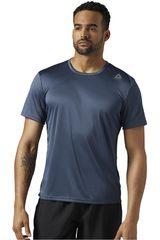 Reebok Azul Petróleo de Hombre modelo RUN SS TEE Polos Deportivo