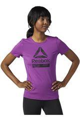 Reebok Morado de Mujer modelo AC GRAPHIC TEE Polos Deportivo