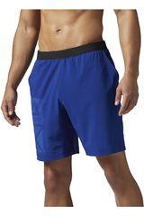 Reebok Azulino / Negro de Hombre modelo GRAPHIC SPEED SHORT Deportivo Shorts