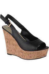 Platanitos Negro de Mujer modelo SPW-DEANA16 Plataformas Sandalias Cuña