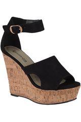 Platanitos Negro de Mujer modelo SPW-DEANA23 Plataformas Sandalias Cuña