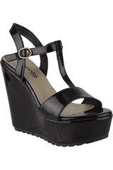 Platanitos Negro de Mujer modelo SPW-ROTATE08 Plataformas Sandalias Cuña