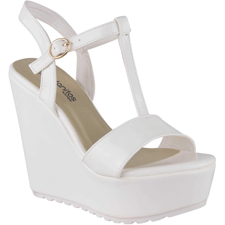 Sandalia Cuña de Mujer Platanitos Blanco spw-rotate08