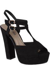 Sandalia Plataforma de Mujer Platanitos Negro SP-ZIZI05