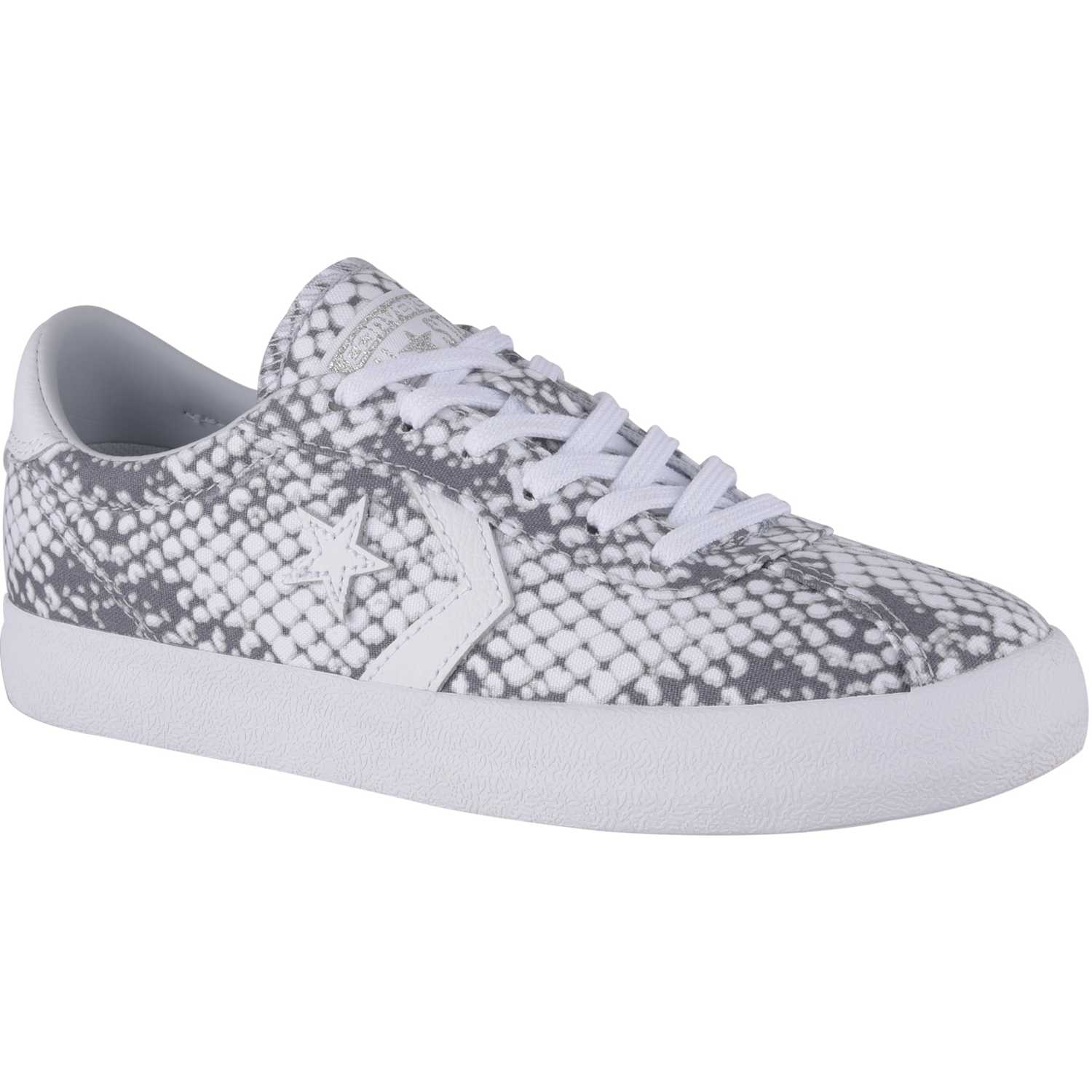 06a7eb44d4c Zapatilla de Jovencita Converse Plateado   blanco break point animal print