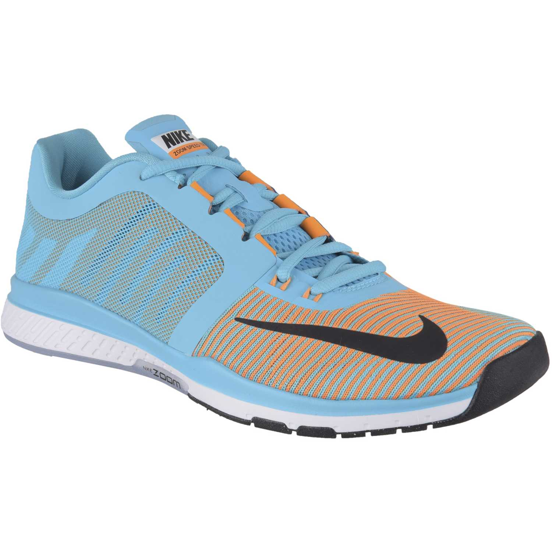 Zapatilla de Hombre Nike Celeste / naranja zoom speed tr3