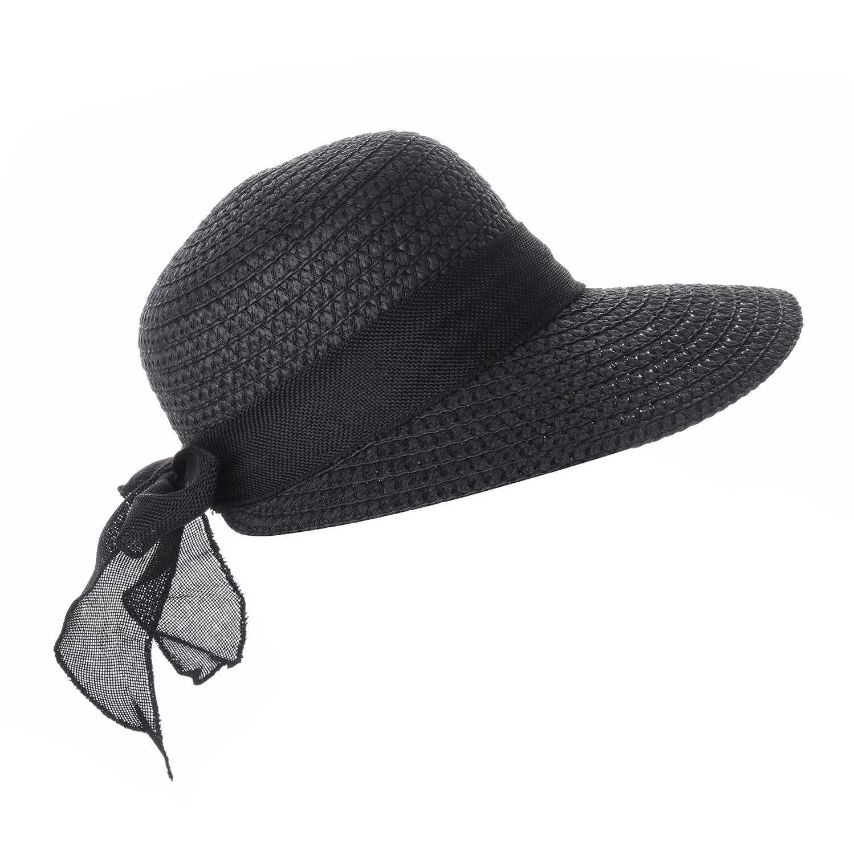 Sombrero de Mujer Platanitos Negro t48-1