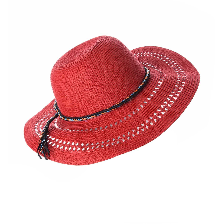 Sombrero de Mujer Platanitos Rojo t7-109