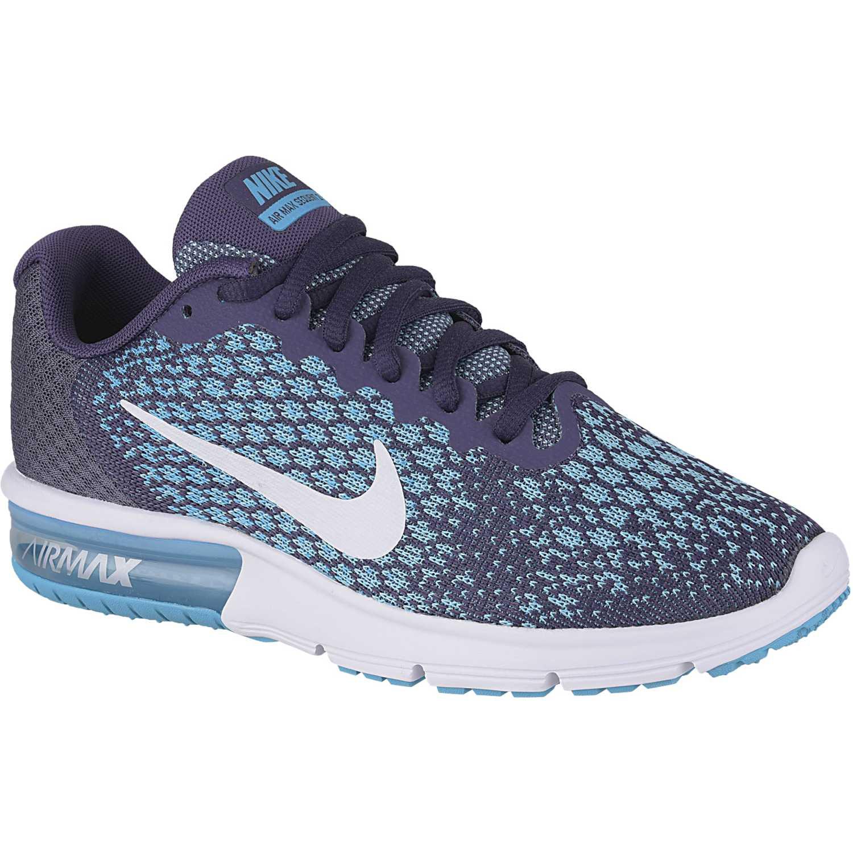 buy online 5b281 50438 Zapatilla de Mujer Nike Acero   celeste wmns air max sequent 2