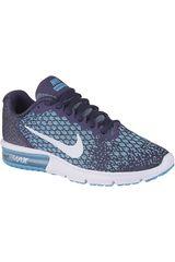 Nike Acero / celeste de Mujer modelo WMNS AIR MAX SEQUENT 2 Zapatillas Deportivo Running