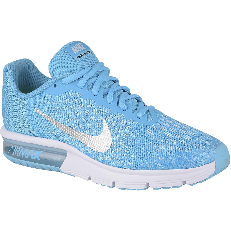Zapatilla de Jovencita Nike Celeste / Blanco air max sequent 2 gg