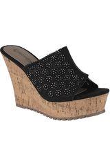 Platanitos Negro de Mujer modelo SPW-8A56 Cuña Sandalias Plataformas
