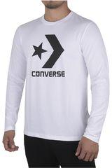 Converse Blanco de Hombre modelo CORE LS STAR CHEVRON TEE Polos Casual