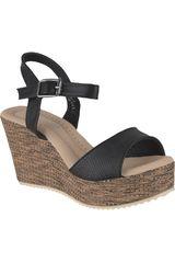 Platanitos Negro de Mujer modelo SPW-53363 Casual Cuña Sandalias