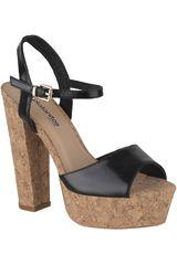 Platanitos Negro de Mujer modelo SP-899 Casual Cuña Sandalias