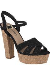 Platanitos Negro de Mujer modelo SP-903 Casual Cuña Sandalias