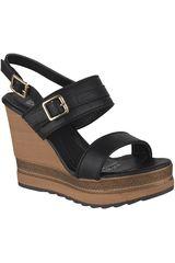 Platanitos Negro de Mujer modelo SPW-38920 Plataformas Sandalias Cuña
