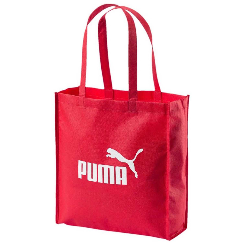 35dd1c5a2406c Bolso de Mujer Puma Rojo   blanco core shopper