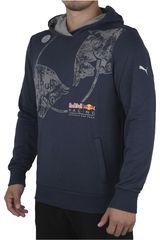 Puma Azul / Gris de Hombre modelo RBR GRAPHIC HOODIE Deportivo Poleras