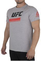 Reebok Gris / Plomo de Hombre modelo UFC FG OCTAGON SS TEE Polos Deportivo