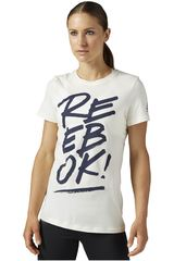 Reebok Blanco / Azul de Mujer modelo SPLIT REEBOK OPP- CREW Deportivo Polos