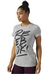 Reebok Gris / Plomo de Mujer modelo SPLIT REEBOK OPP- CREW Deportivo Polos
